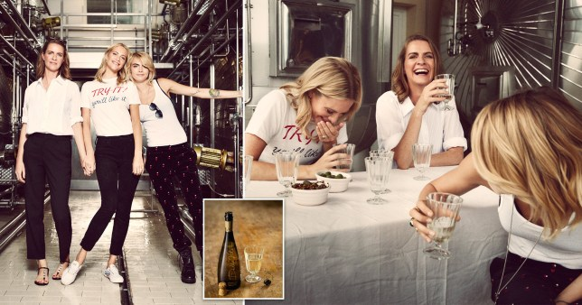 Cara Delevingne and sisters Poppy and Chloe