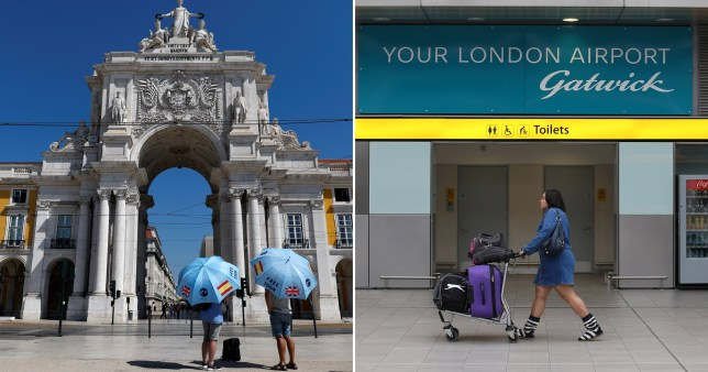Portugal and Gatwick Airport