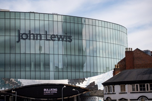 A John Lewis shop in Birmingham after the retailer announced temporary closure of all of their stores in the latest blow to the UK high street amid the coronavirus pandemic. PA Photo. Picture date: Monday March 23, 2020. See PA story HEALTH Coronavirus. Photo credit should read: Jacob King/PA Wire