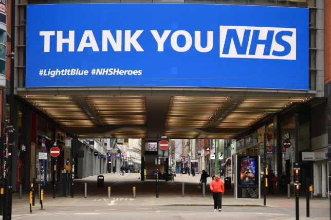 a Thank You NHS sign