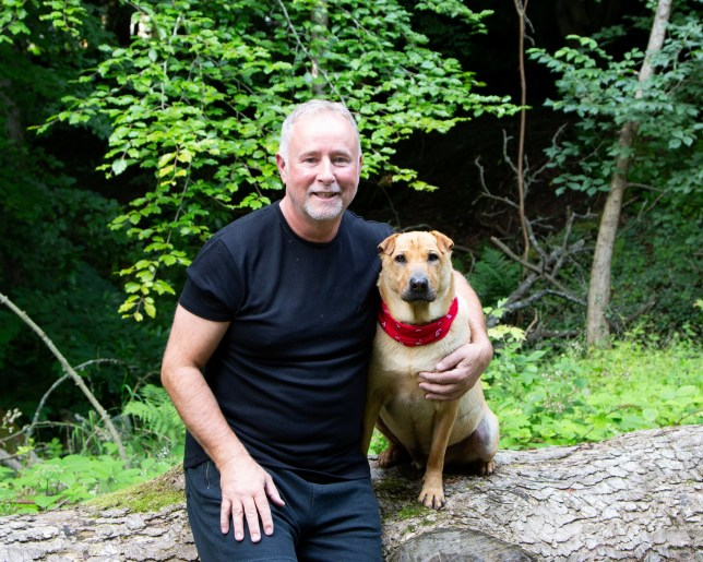 Kai the shar-pei cross with owner Ian Russell