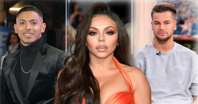 Sean Sagar, Jesy Nelson and Chris Hughes pictured separately