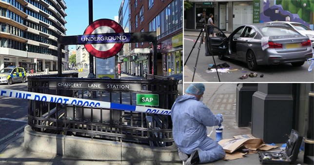 Four men have been stabbed after a fight in Holborn, London, leaving two fighting for their lives.