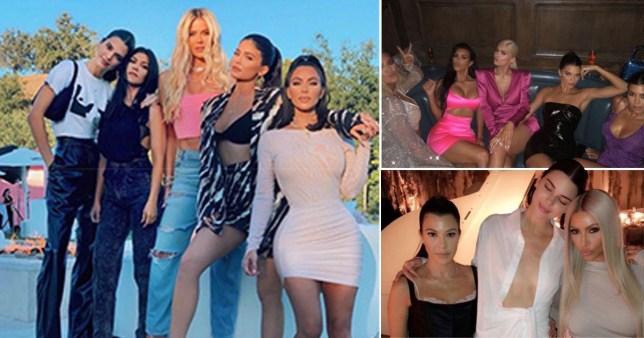 Kim Kardashian with sisters Khloe Kardashian, Kourtney Kardashian, Kylie Jenner and Kendall Jenner