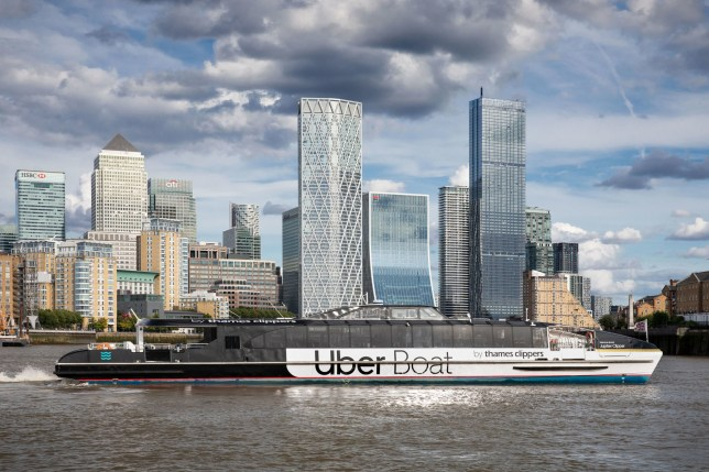 Uber has joined up with Thames Clippers to launch its Uber Boat service (Uber/ George Sharman GSP via PA)