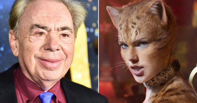 Andrew Lloyd Webber pictured alongside Taylor Swift in Cats movie