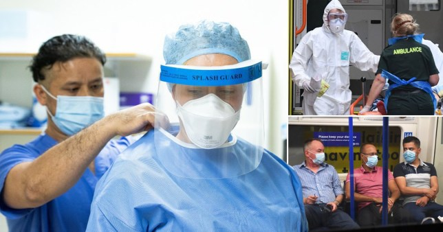 Study: small aerosol droplets could penetrate some PPE used to shield people from infections 4pm EMBARGO pics: AFP/EPA