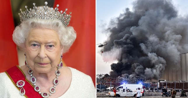 Queen sends message to Lebanon
