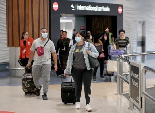 AUCKLAND, NOUVELLE-ZÉLANDE - 29 JANVIER: Les passagers arrivant sur des vols portent des masques de protection à l'aéroport international le 29 janvier 2020 à Auckland, en Nouvelle-Zélande.  Il n'y a eu aucun cas confirmé de coronavirus en Nouvelle-Zélande, mais les autorités sanitaires restent en état d'alerte, car de plus en plus de cas de virus mortel de type grippal sont confirmés dans le monde.  Le coronavirus, qui est originaire de Wuhan, en Chine, a maintenant tué 132 personnes - principalement en Chine - et mercredi matin avait 6000 cas confirmés tandis que des milliers de personnes supplémentaires restent sous observation.  (Photo par Dave Rowland / Getty Images)