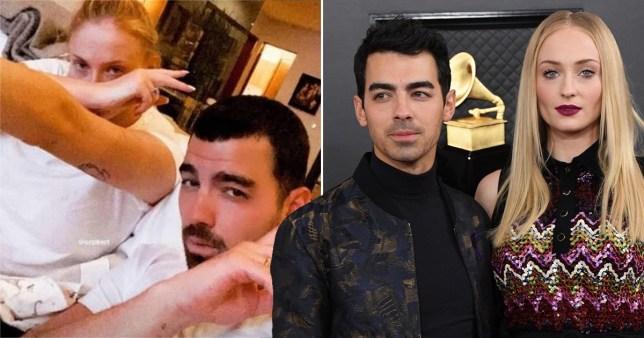 Joe Jonas pictured with wife Sophie Turner