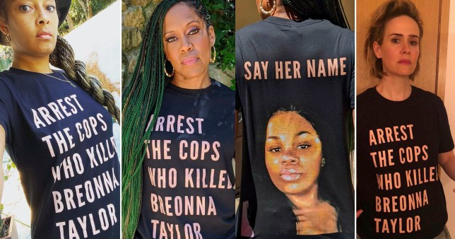 Regina King, Sarah Paulson and Amanda Seales lead stars demanding Justice for Breonna Taylor in new campaign