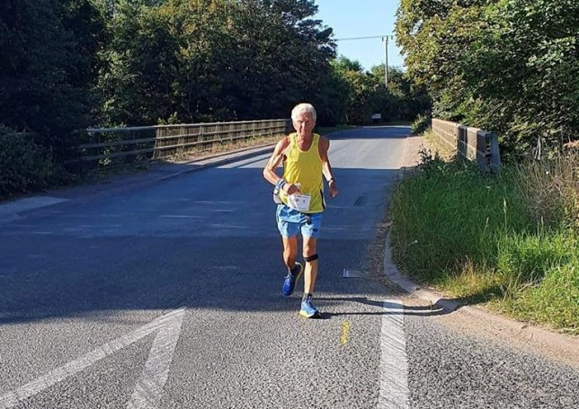 Andy Wilmot who has clocked up a whopping 20,960 running miles over the last three decades