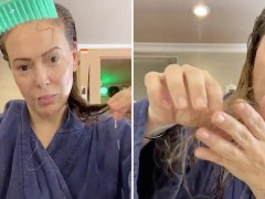 Alyssa Milano losing clumps of hair as she suffers Covid-19 symptoms five months on