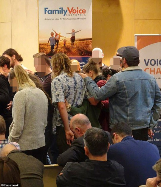 Image of event by Conservative christian organisation Family Voice Australia