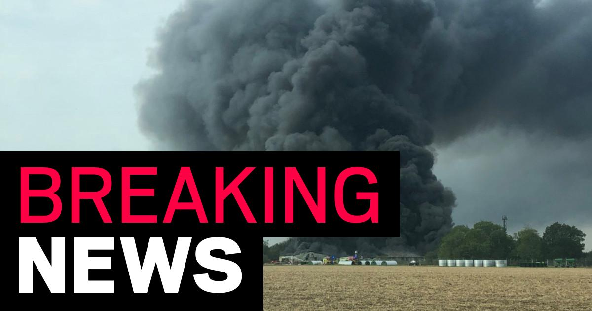 Explosions at airfield after huge fire breaks out near runway - metro