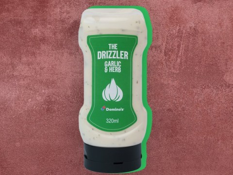 You can now get the Domino's garlic and herb dip in a squeezy bottle
