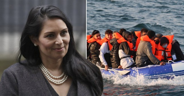 Priti Patel claimed migrants view France as a 'racist' country.