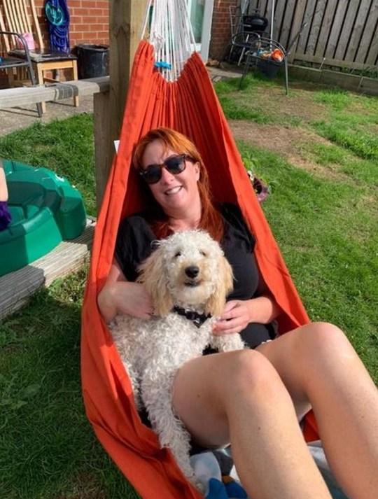 owner Jocelyn and dog Peggy