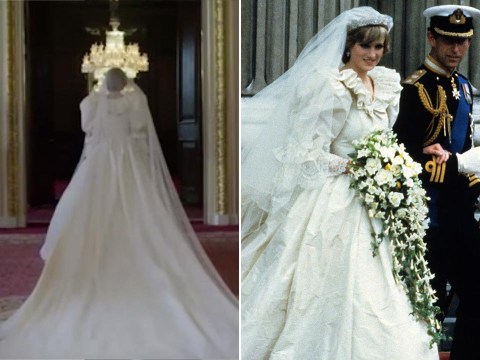 The Crown season 4 gives fans a glimpse of Princess Diana's iconic wedding dress