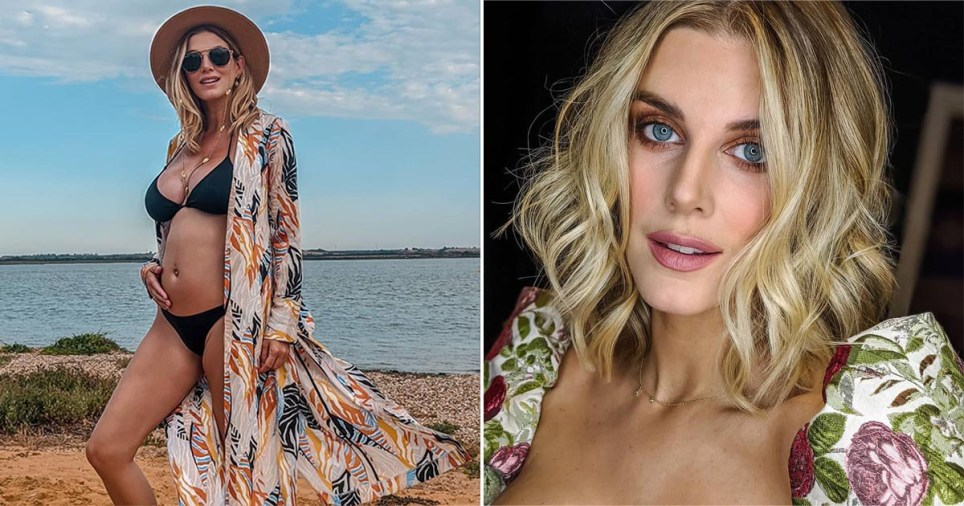 Ashley James pictured with baby bump