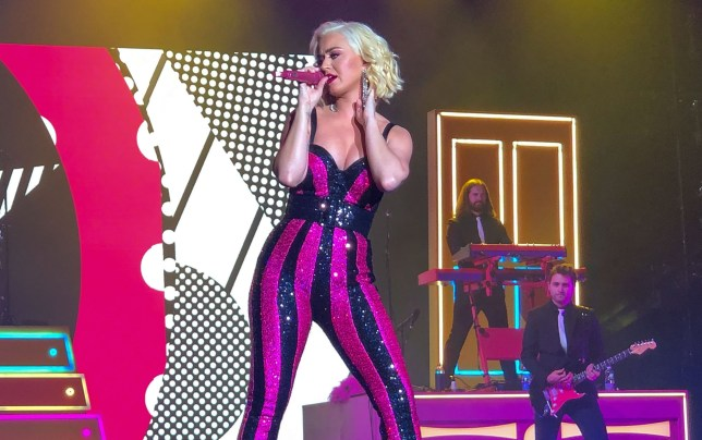 Katy Perry in concert at Doha Exhibition and Convention Centre, Qatar - 15 Dec 2019