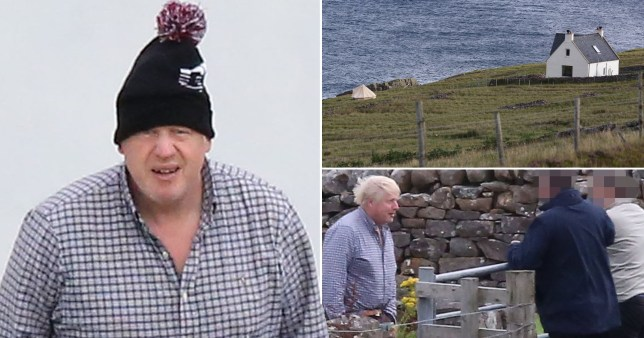 Boris Johnson was forced to abandon his Scottish holiday after his location was leaked.