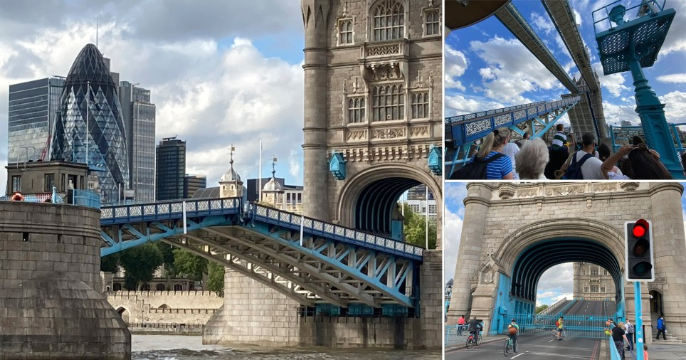 Tower Bridge 'stuck' open due to 'mechanical fault' as central London traffic comes to standstill (Picture: AP, PA)