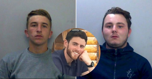Pc Andrew Harper (middle) and two of his killers - Jessie Cole and Albert Bowers, both 18