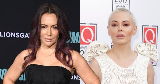 Rose McGowan accuses Alyssa Milano of making Charmed set 'Toxic AF' in clash Getty