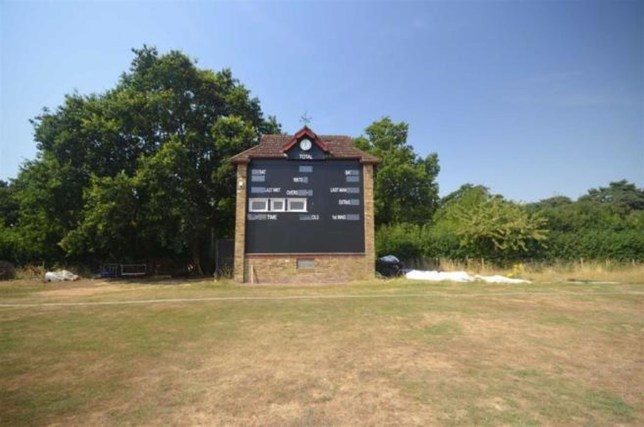 shenley cricket ground's one bedroom scorer's box listed for rent