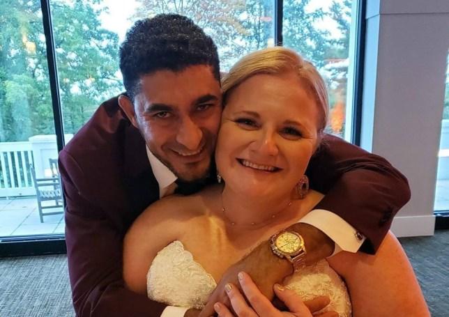 Nicole and Paulo on their wedding day