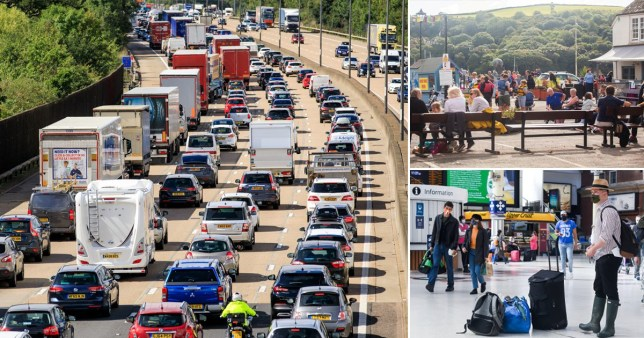 It could be the busiest August bank holiday Friday on record with 5.6 million people set to take trips Rex/SWNS/i-images