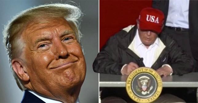 Trump dit aux Américains qu'ils peuvent vendre son autographe pour 10000 dollars.