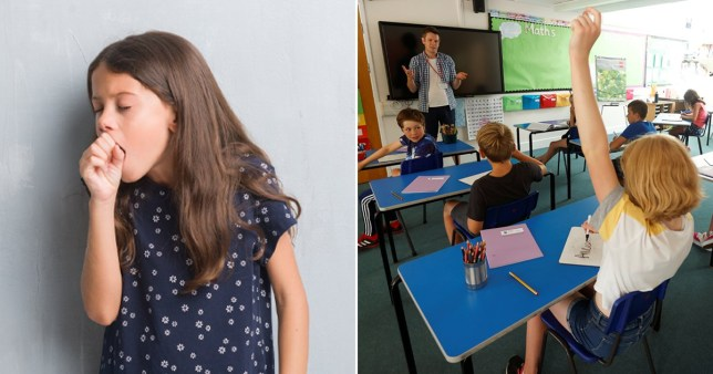 Pupils could be sent home for joke coughing Pics: Reuters/Getty