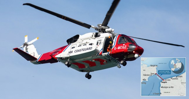 A man who tried to swim from Dover to Calais has been rescued after an eight-hour search mission.