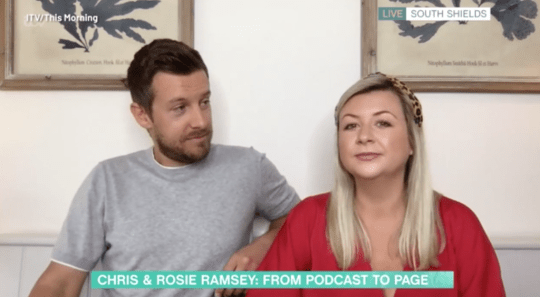 Chris and Rosie Ramsey appearing on This Morning