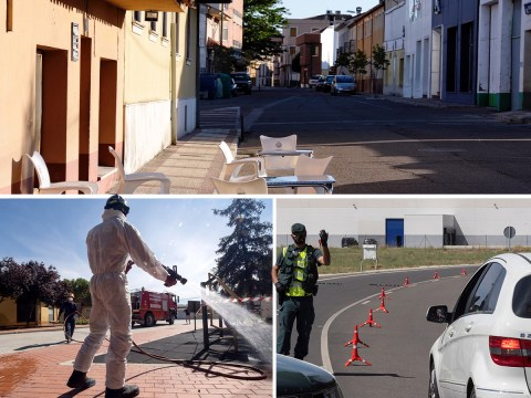 Spain locks down two more towns after weekend spike of 8,500 cases
