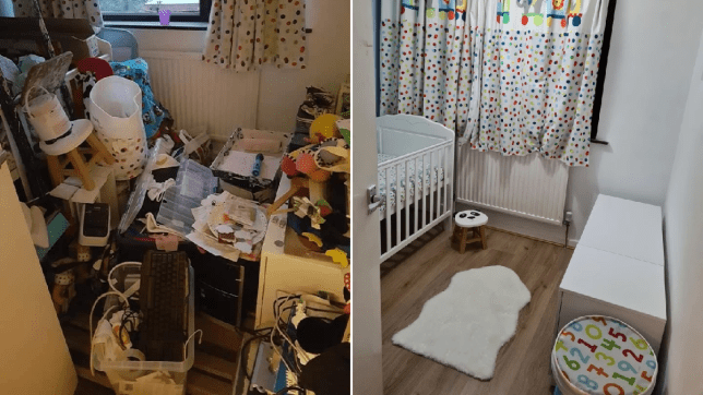before and after of room transformation