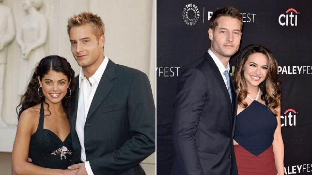 Justin Hartley and ex-wives Lindsay and Chrishell