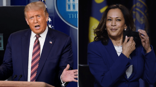 Donald Trump and Kamala Harris
