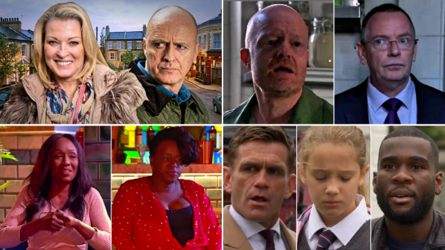 EastEnders - Kathy Beale, Danny Hardcastle, Denise and Kim Fox, Max Branning, Ian Beale, Jack Branning, Amy and Isaac Baptiste