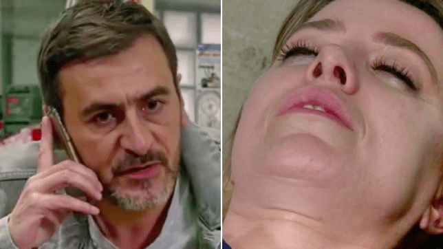 Peter and Abi in Coronation Street