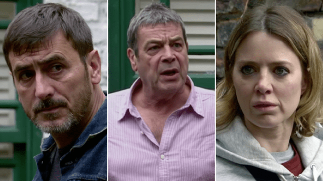 Peter, Johnny and Abi in Coronation Street