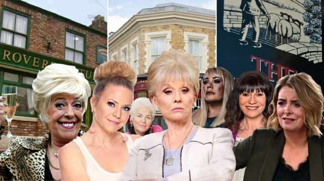 Bet in Coronation Street, Peggy, Linda, Pat and Sharon in EastEnders, Chas and Charity in Emmerdale