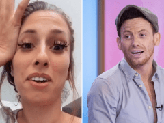 Stacey Solomon refuses to have cold shower with Joe Swash as she struggles in heatwave