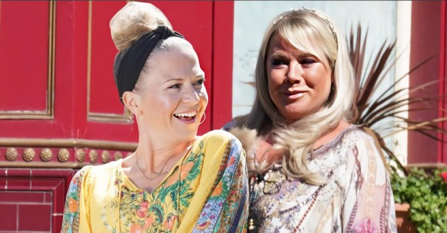 Kellie Bright and Letitia Dean in EastEnders: Secrets From The Square