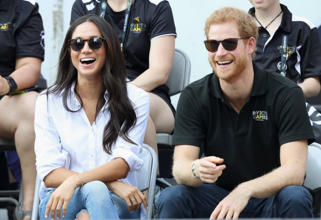 Photograph of Meghan Markle and Prince Harry at the 2017 Invictus Games