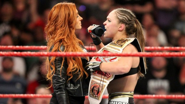 WWE superstars Becky Lynch and Ronda Rousey