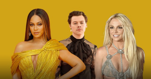 Beyonce, Harry Styles and Britney Spears