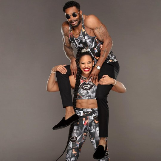 WWE wrestlers Montez Ford and Bianca Belair